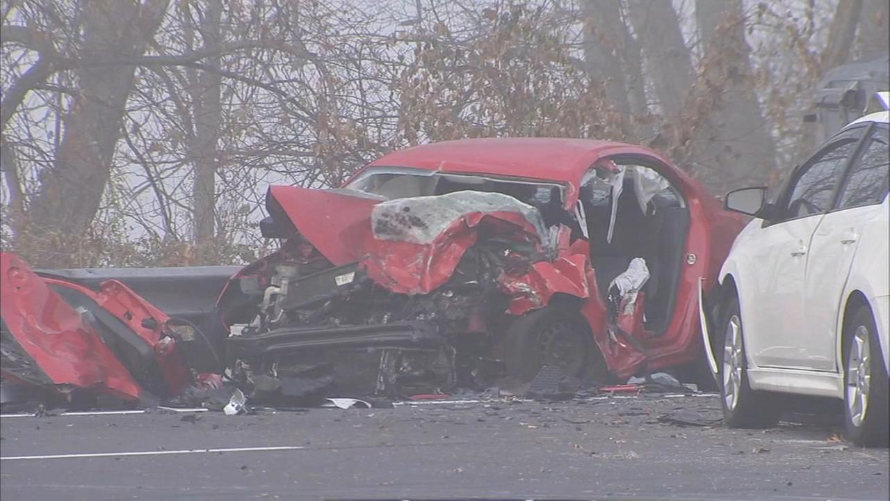 RAW VIDEO: 3-vehicle crash involving deer