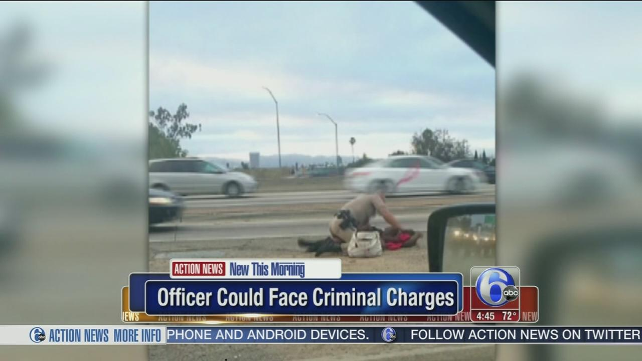 VIDEO: Officer caught punching woman