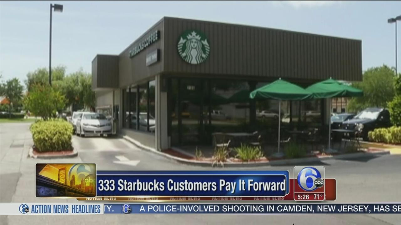 VIDEO: Hundreds of Starbucks customers pay it forward
