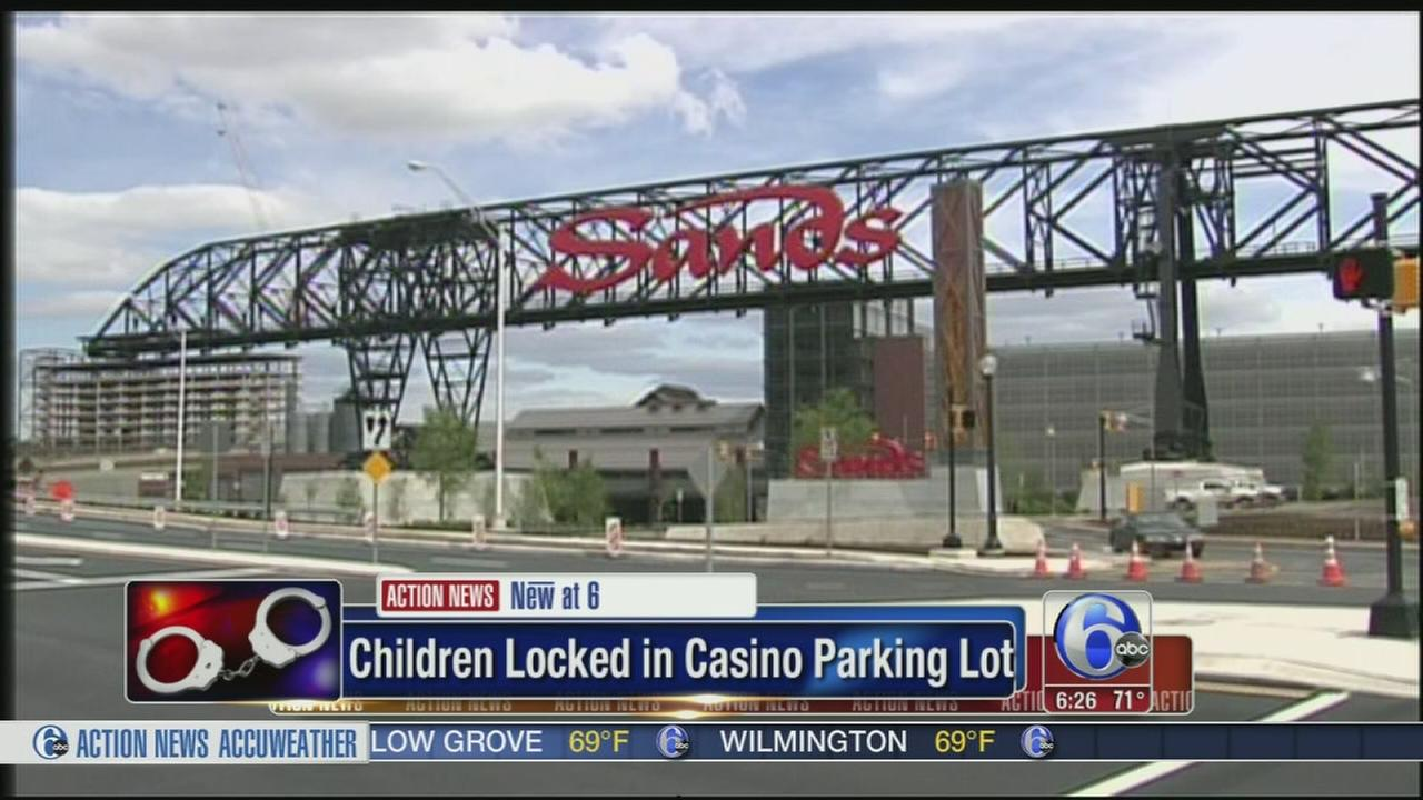 VIDEO: Kids locked in car at Sands casino