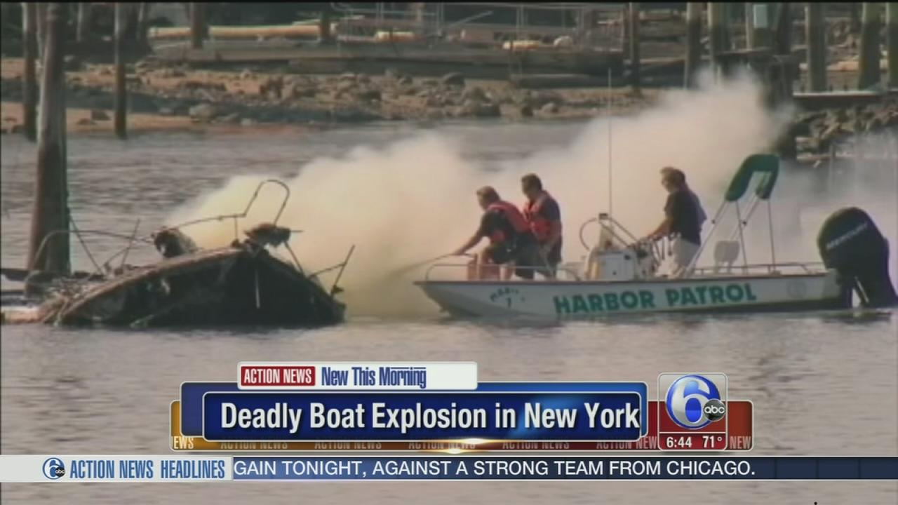 VIDEO: Deadly boat explosion in New York