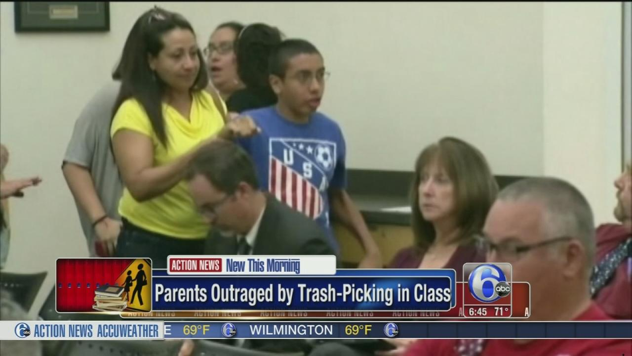 VIDEO: Parents outraged over trash-picking in class