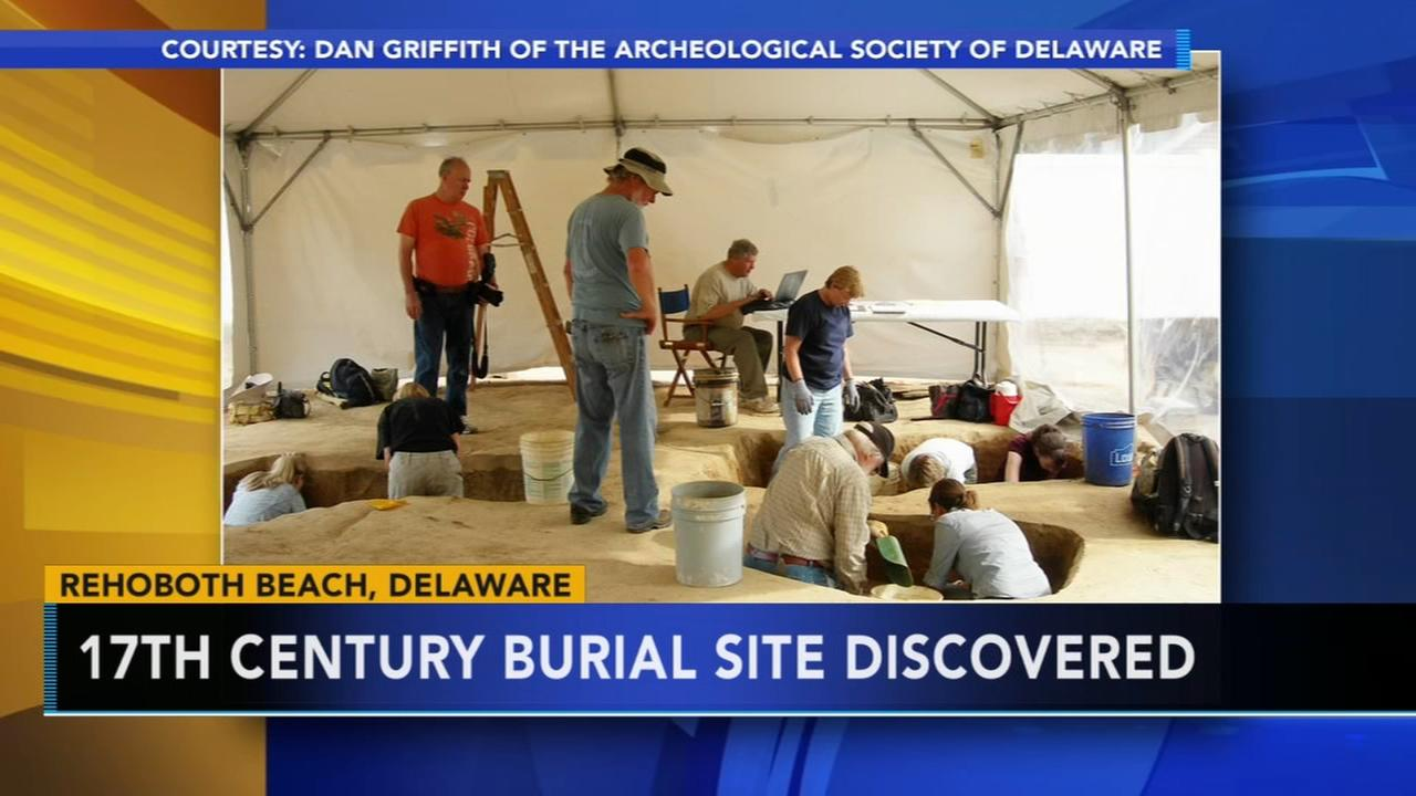 Burial site from 17th century found in Rehoboth Beach