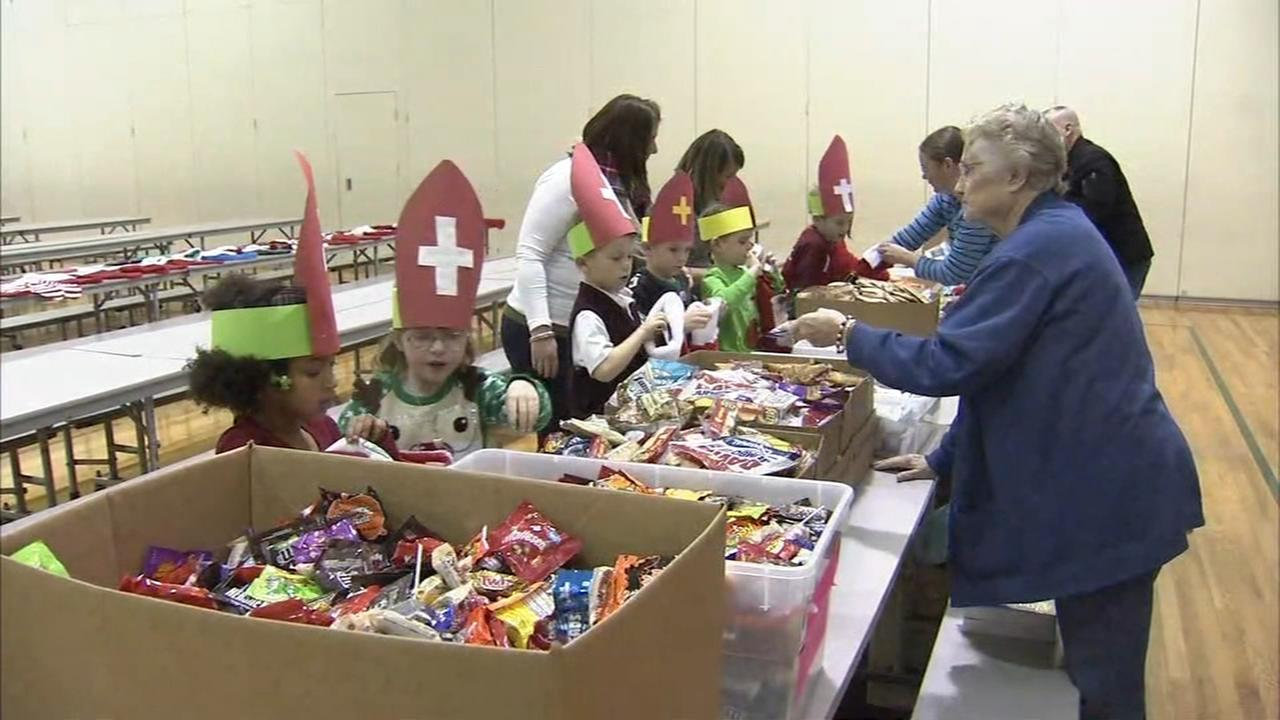 Montco kids fill stockings to send to members in the military