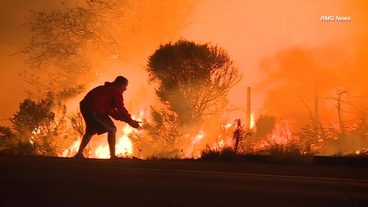 Man risks life to save rabbit from California wildfire