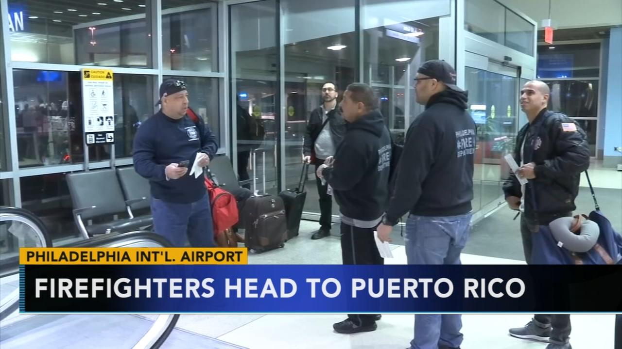 Firefighters heading to Puerto Rico