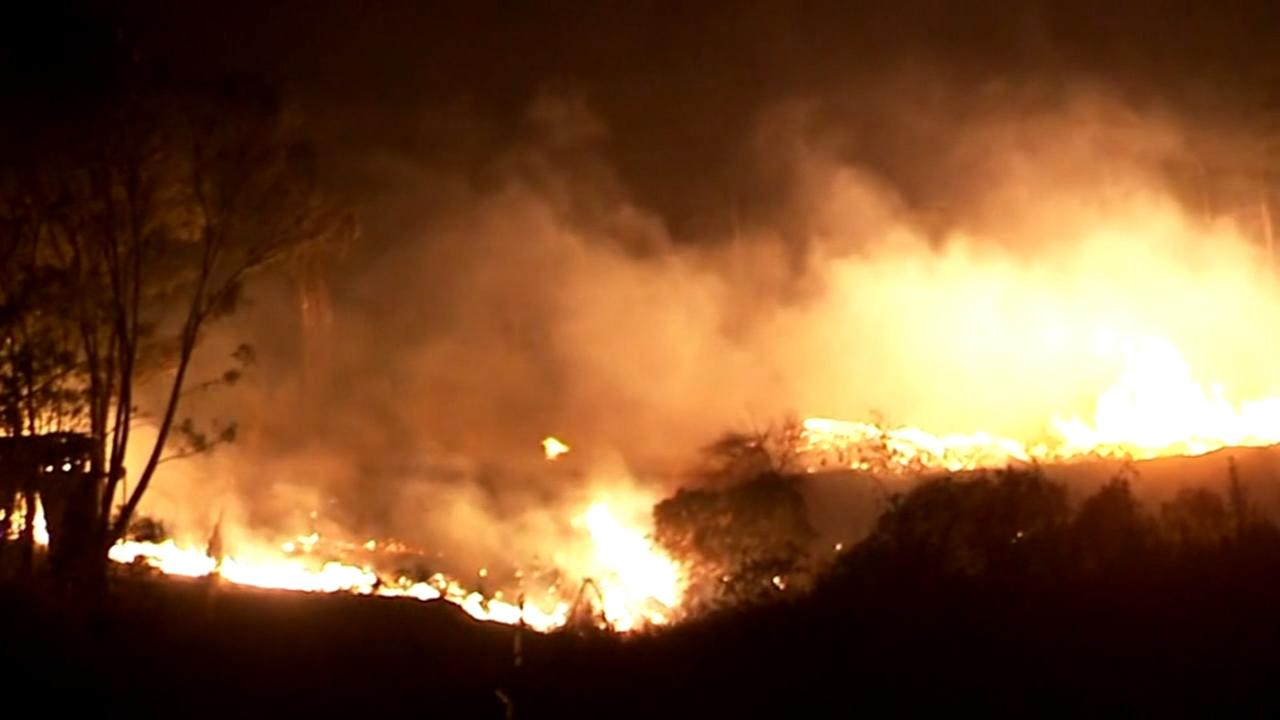 Calif. wildfires forcing people to flee on a moments notice