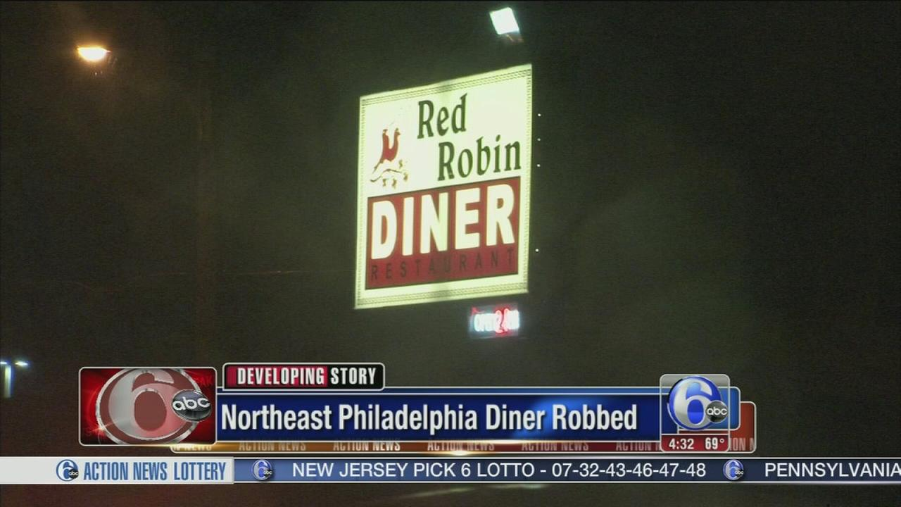 VIDEO: 2 armed men sought in diner robbery in NE Philly