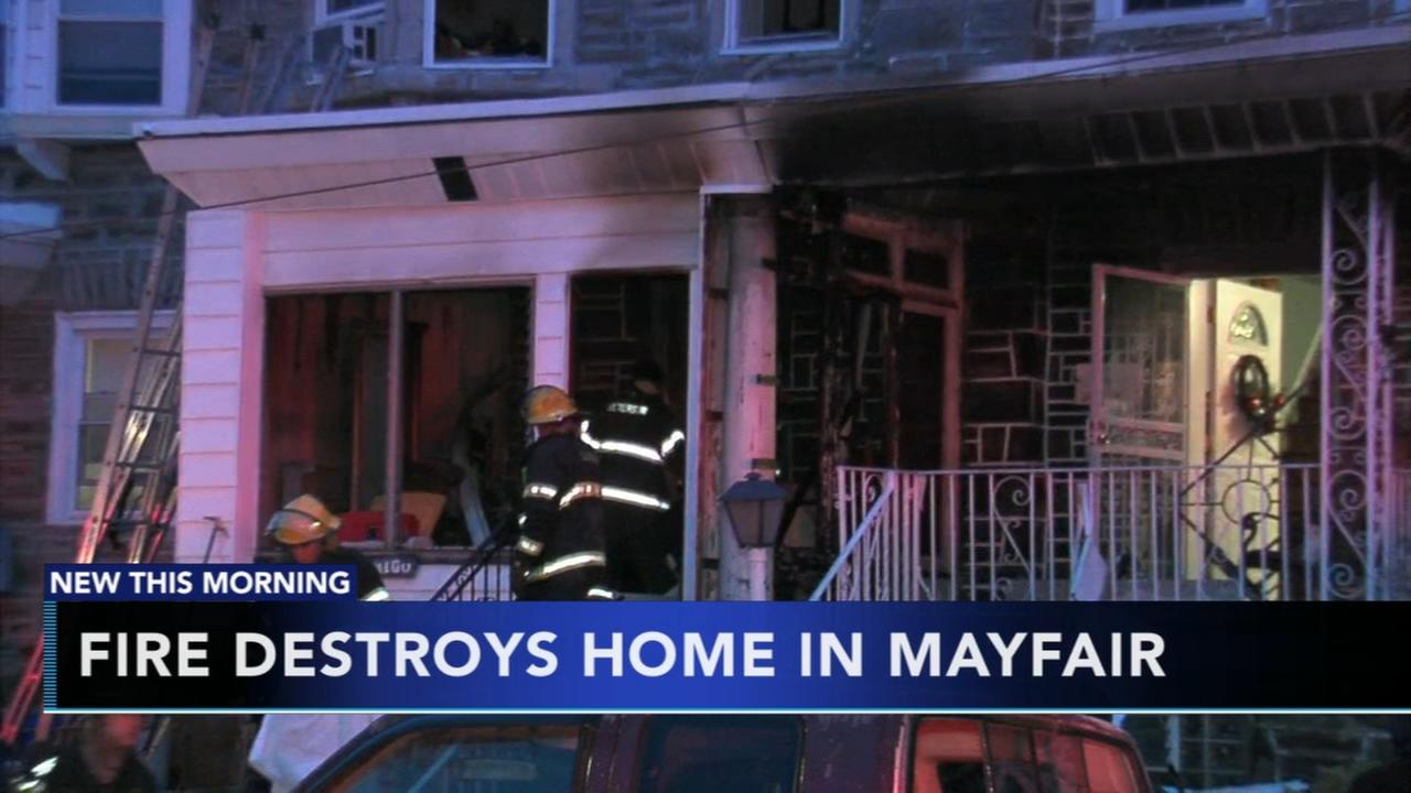 Four displaced after fire destroys home in Mayfair