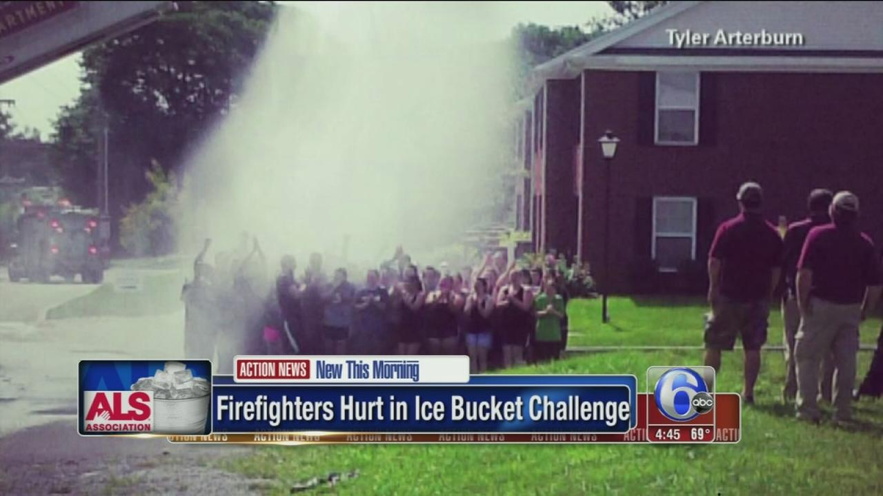 VIDEO: Firefighters shocked during ice bucket challenge