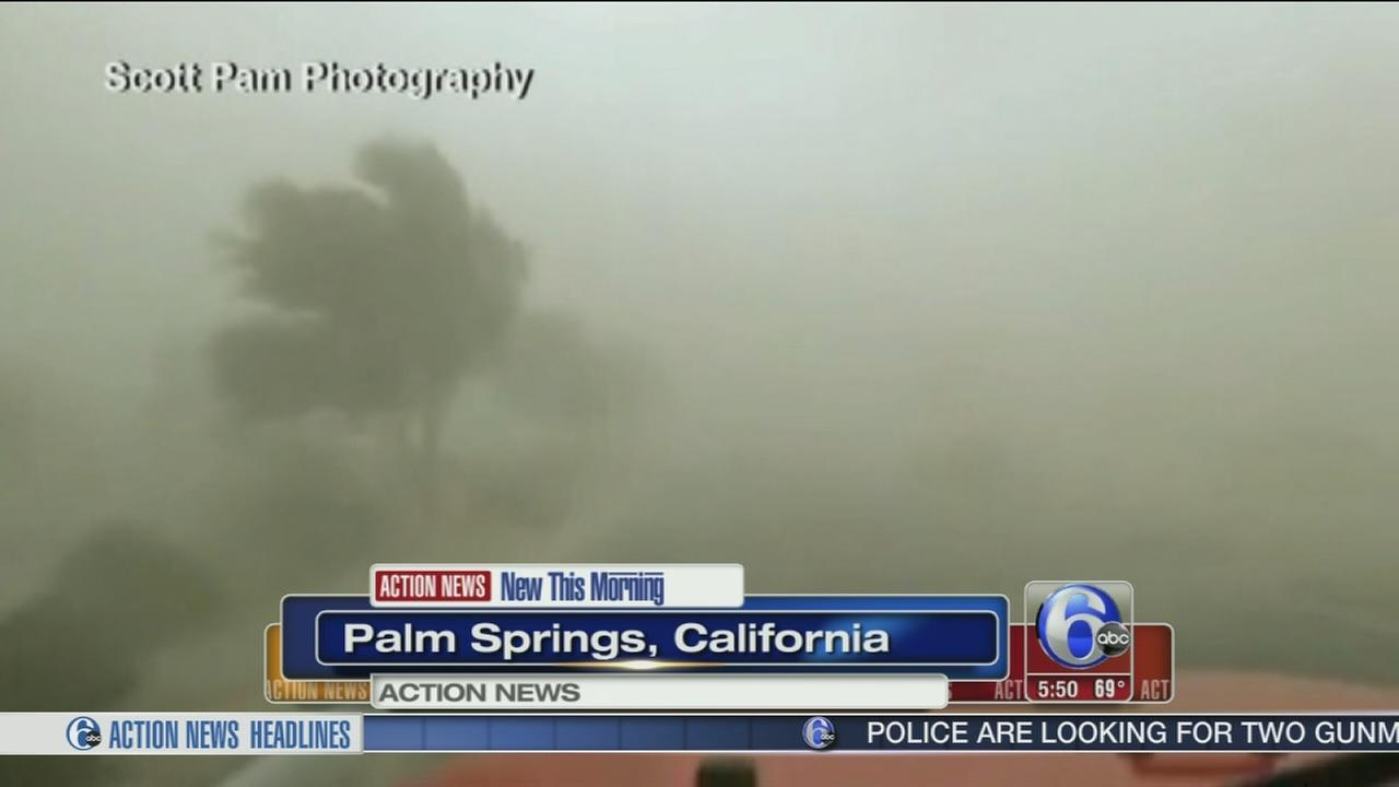 VIDEO: Dust and sand swirl around drivers in Calif.