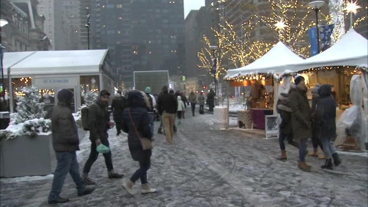 Snow heightens festivities in Center City