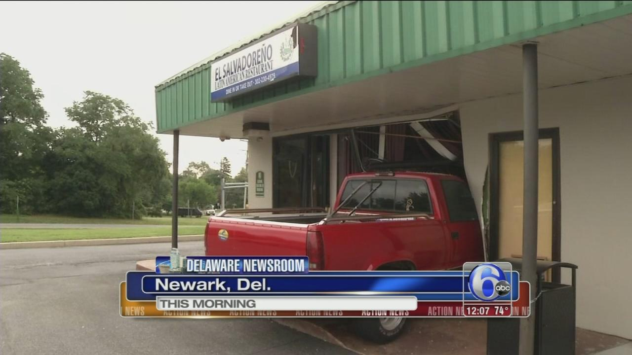 VIDEO: Owner crashes into own restaurant