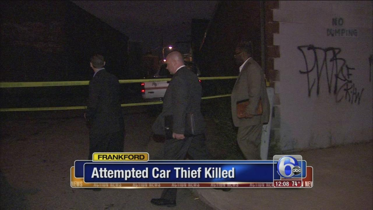 VIDEO: Police: Man killed trying to break into vehicle