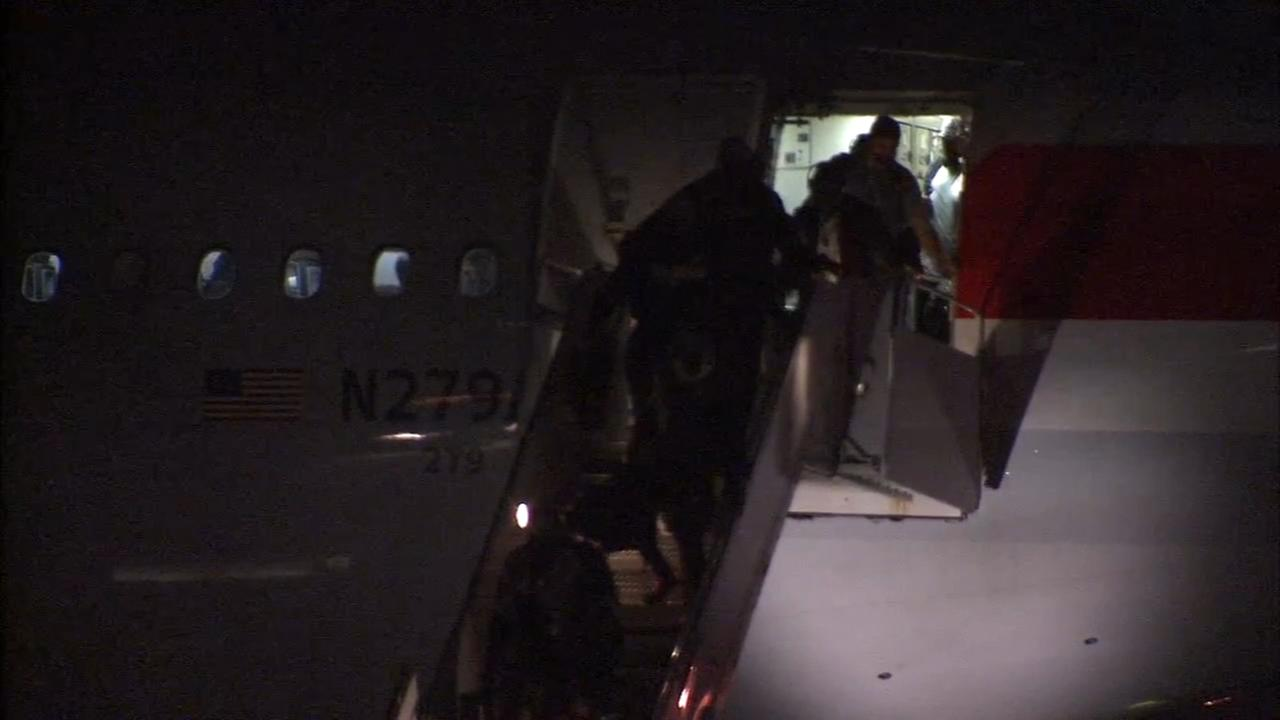 Philadelphia Eagles arrive back home