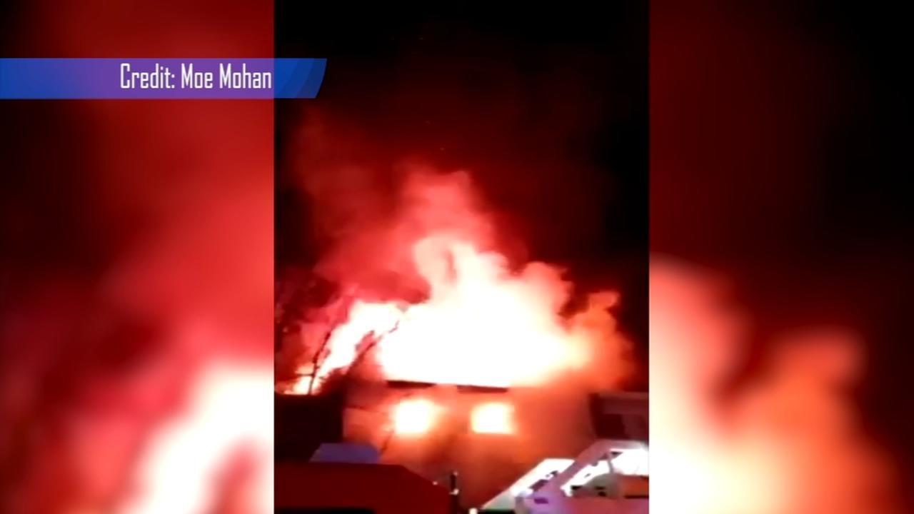 Officer injured, 21 displaced in Blackwood fire