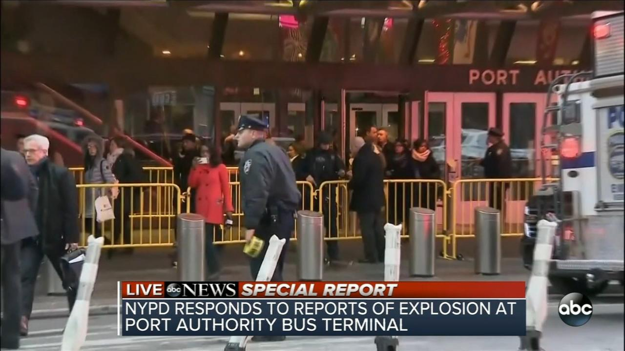 Explosion at NYC bus terminal