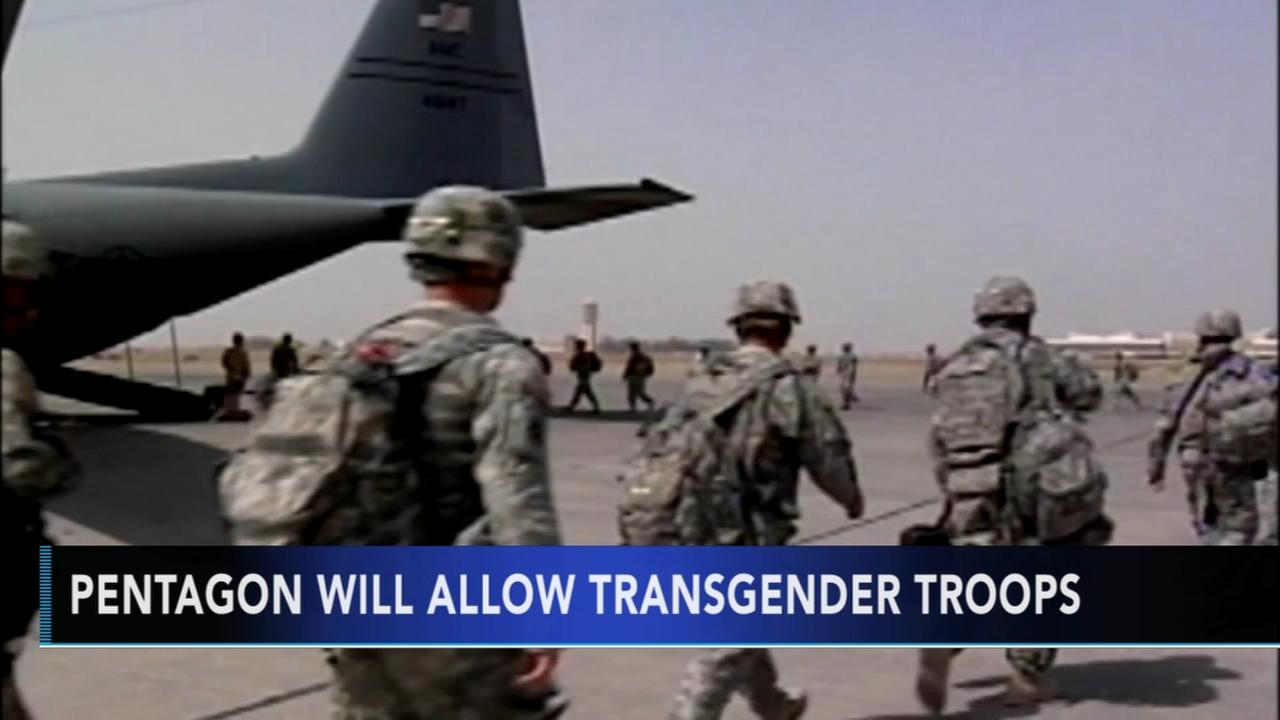 Pentagon will allow transgender people to enlist in military in 2018