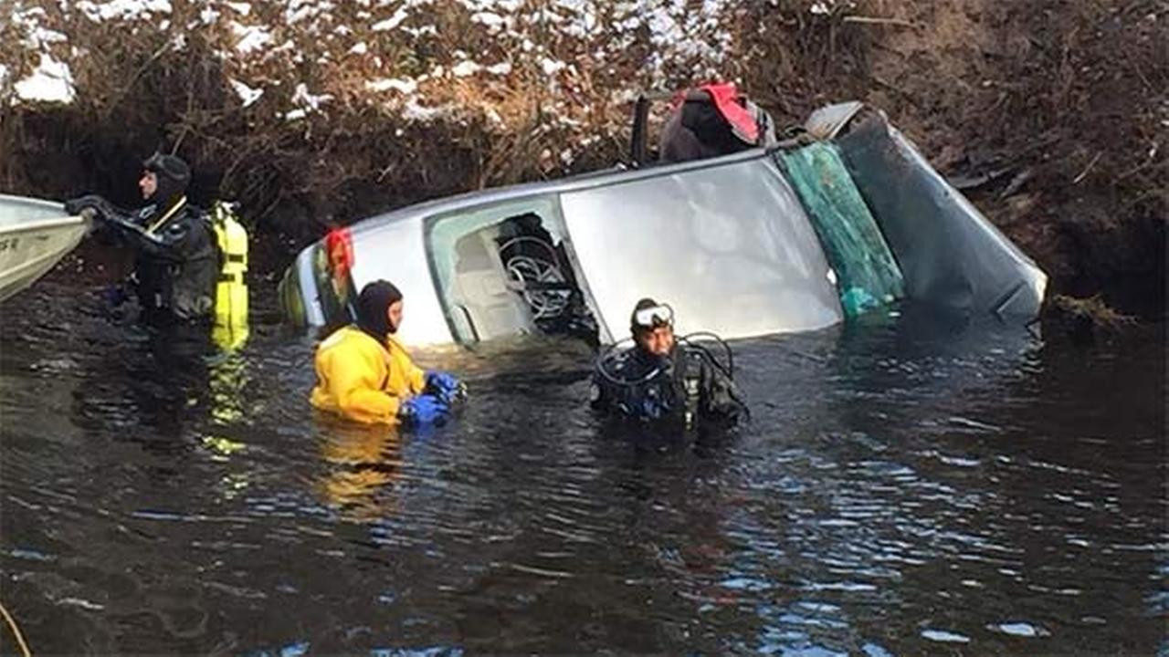 Car found in Mullica River, body discovered inside
