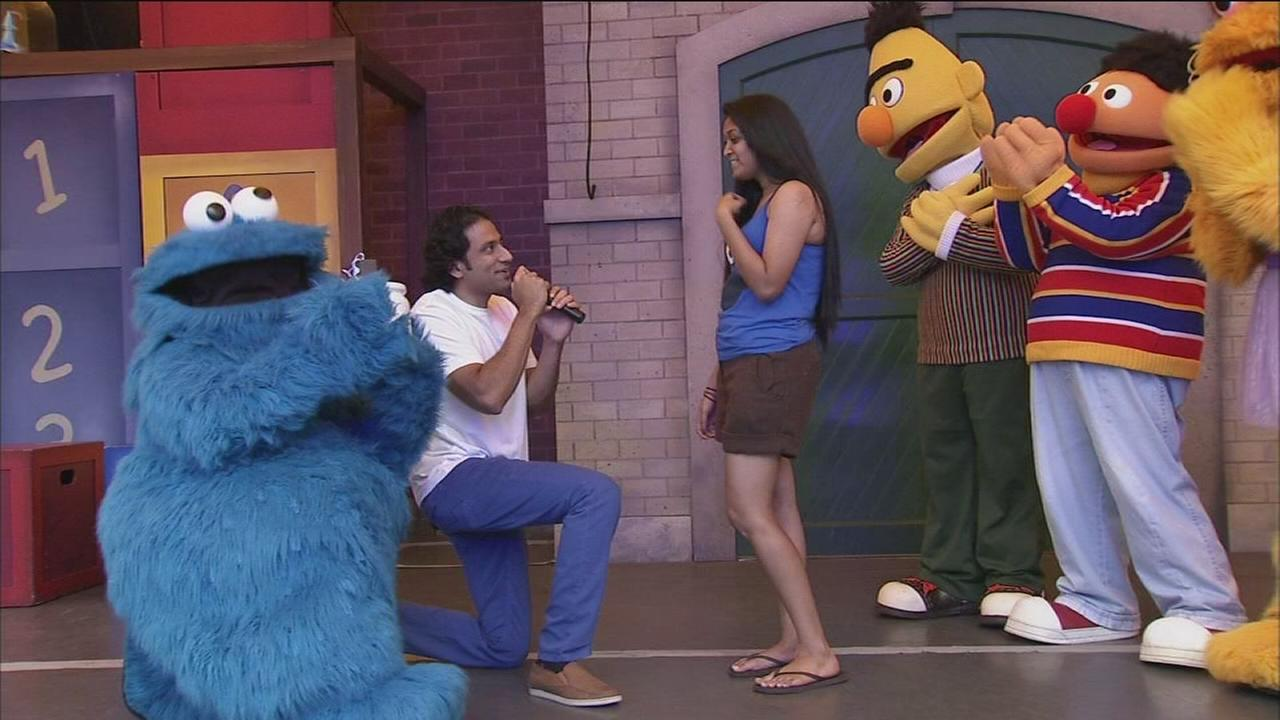 VIDEO: Woman gets surprise wedding proposal at Sesame Place