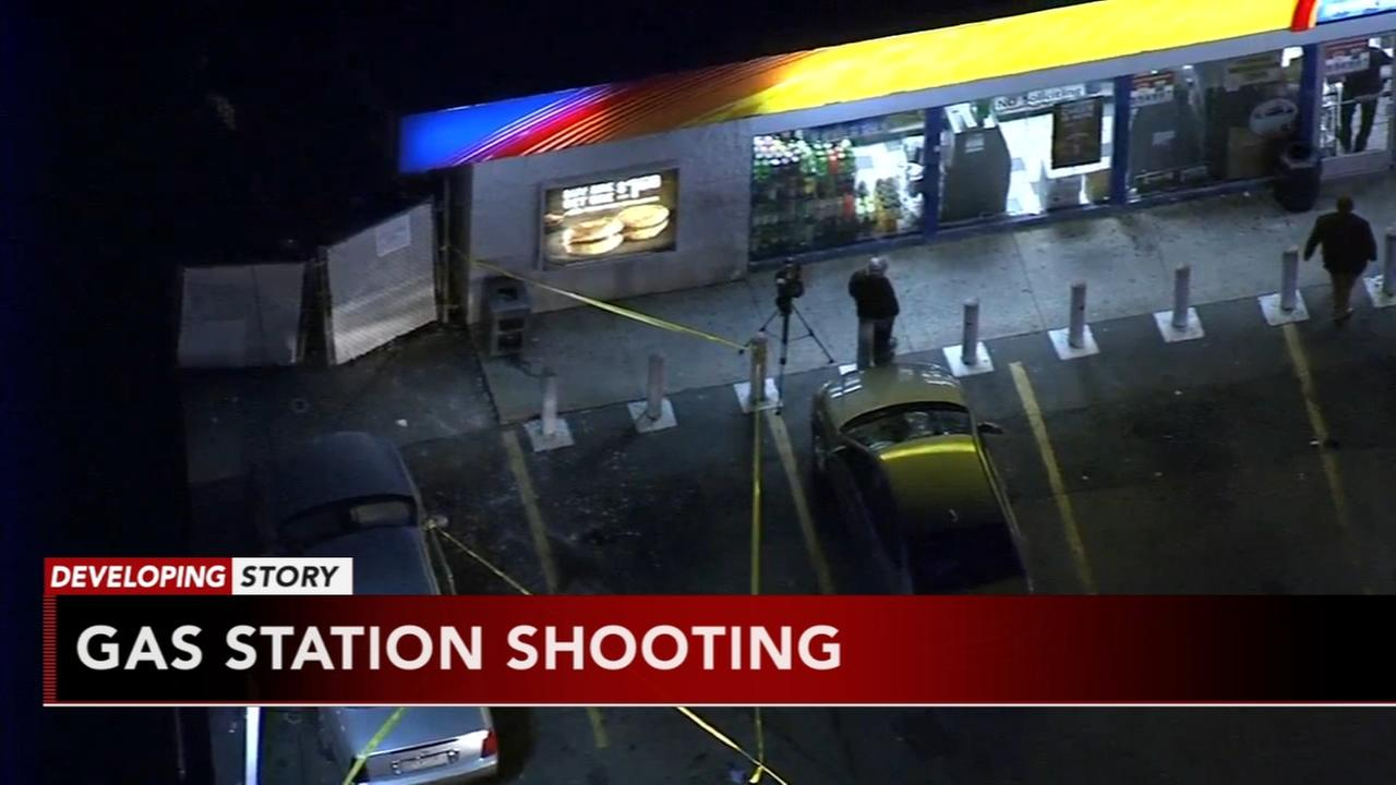 Gas station shooting in Olney