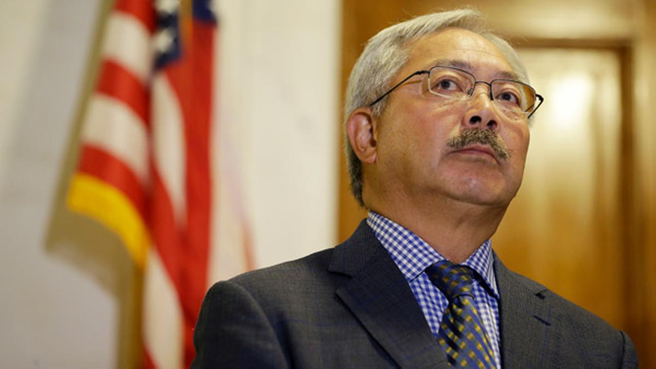 San Francisco Mayor Ed Lee listens to questions during a news conference at City Hall Tuesday, Aug. 15, 2017, in San Francisco.