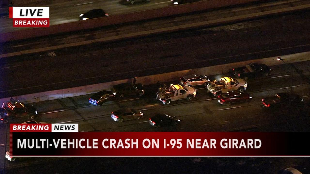 Multi-vehicle crash on I-95 near Girard
