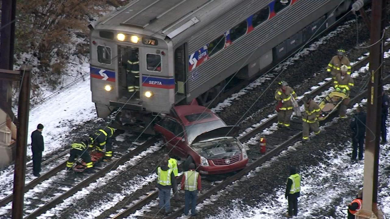 Crews respond to SEPTA crash in Montco