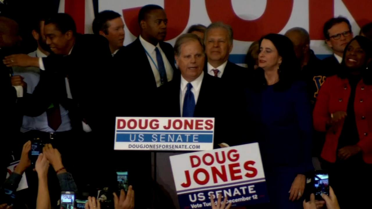Dem Doug Jones wins election to US Senate from Alabama
