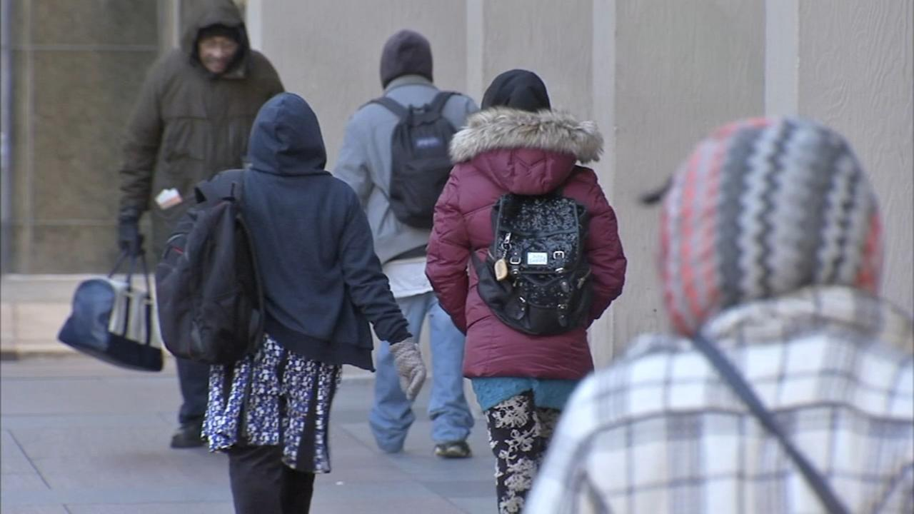 Folks react to bitter cold temps in Center City