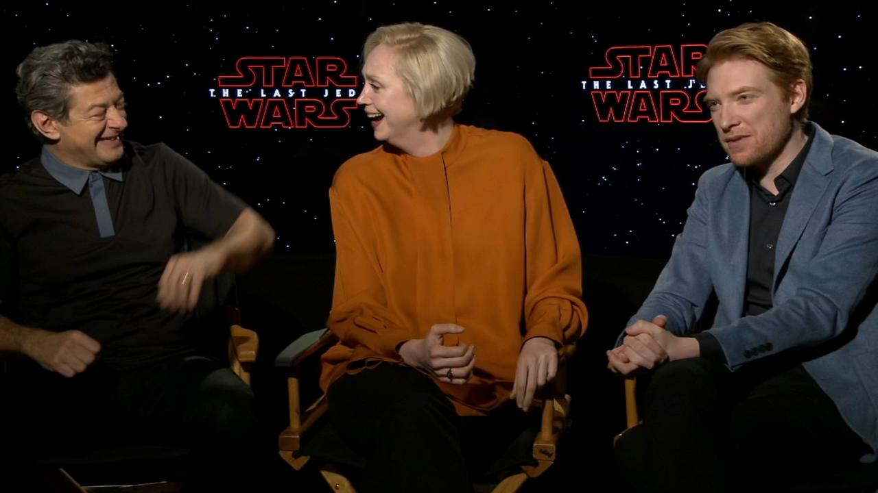 Sharrie Williams interviews Star Wars Gwendoline Christie, Domhnall Gleeson, Andy Serkis