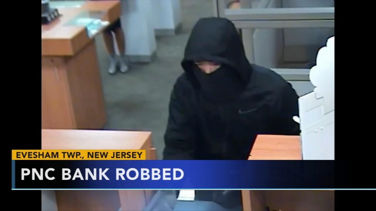 Suspect sought for armed bank robbery in Burlington Co.
