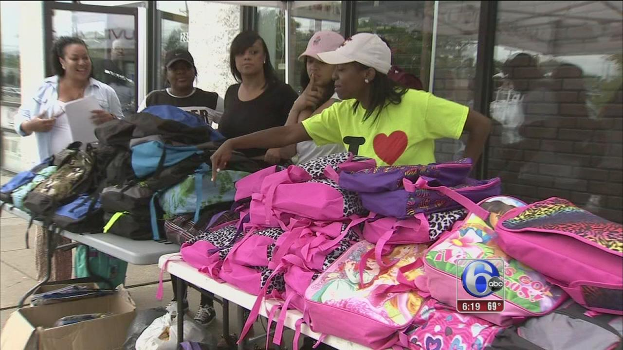 VIDEO: Kids stocked up for school in Philly, NJ