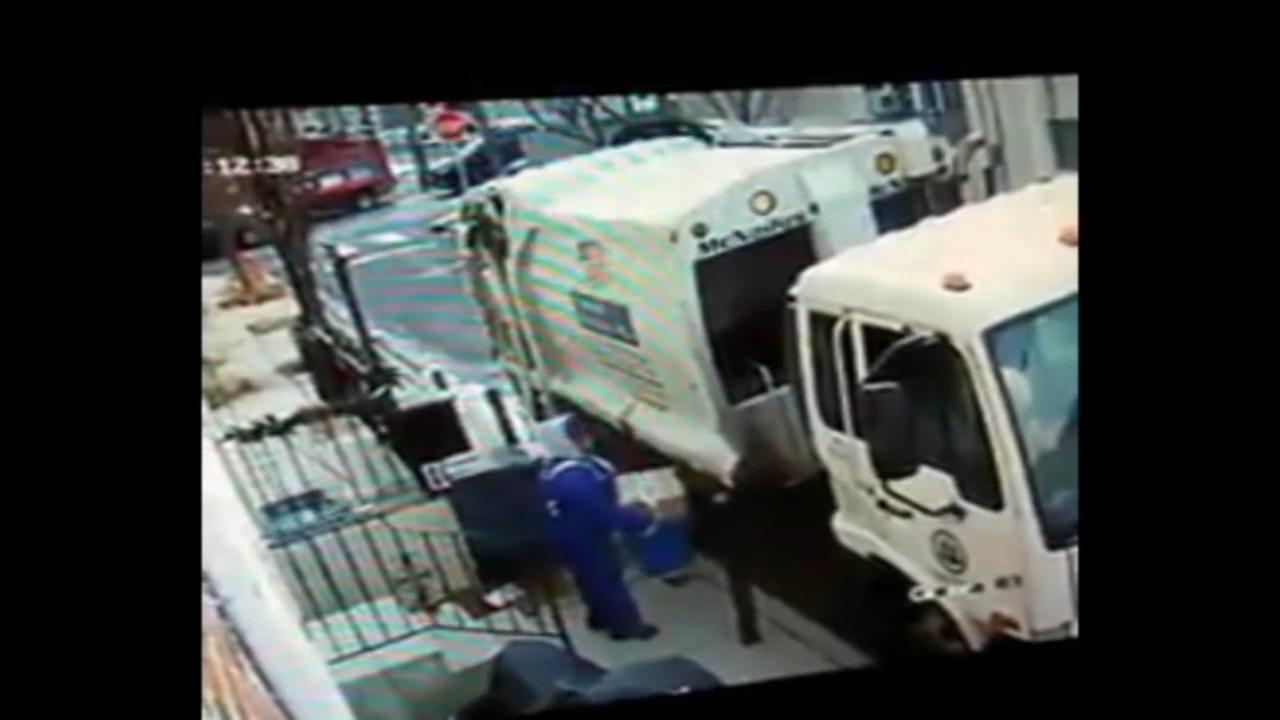 Video shows sanitation worker stealing package