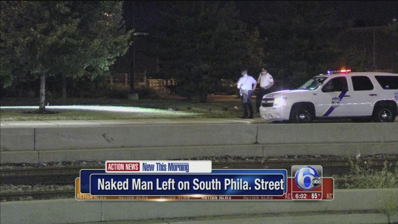 VIDEO: Naked man thrown from car