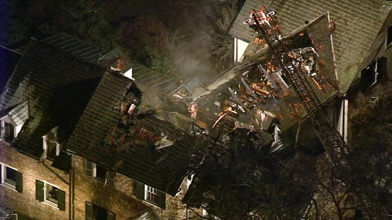 VIDEO: 3-alarm fire in Blue Bell