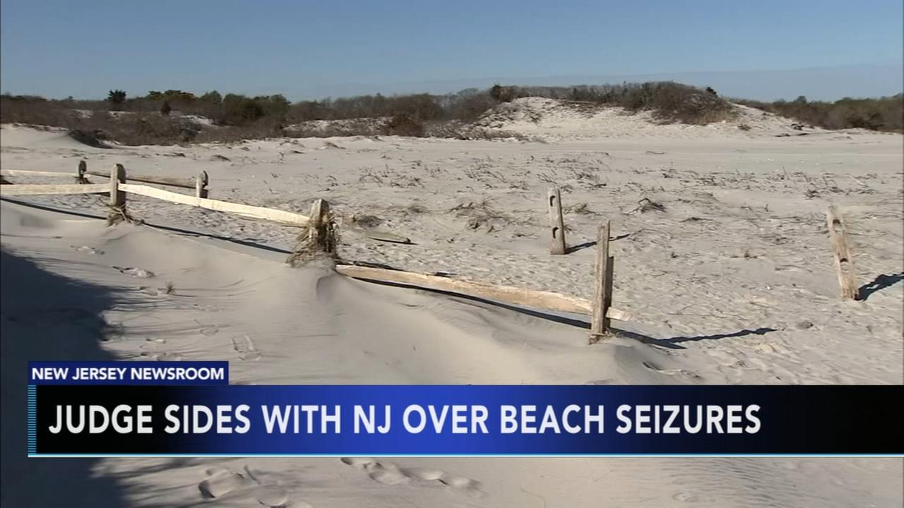 Judge sides with NJ over beach seizures