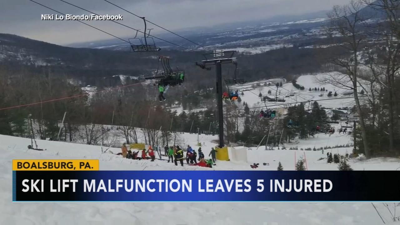 VIDEO: Ski lift malfunction leaves 5 injured