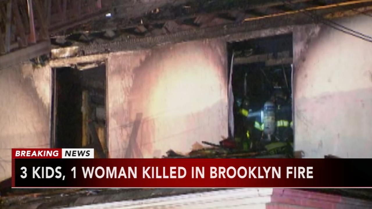 Brooklyn fire kills woman, 3 children