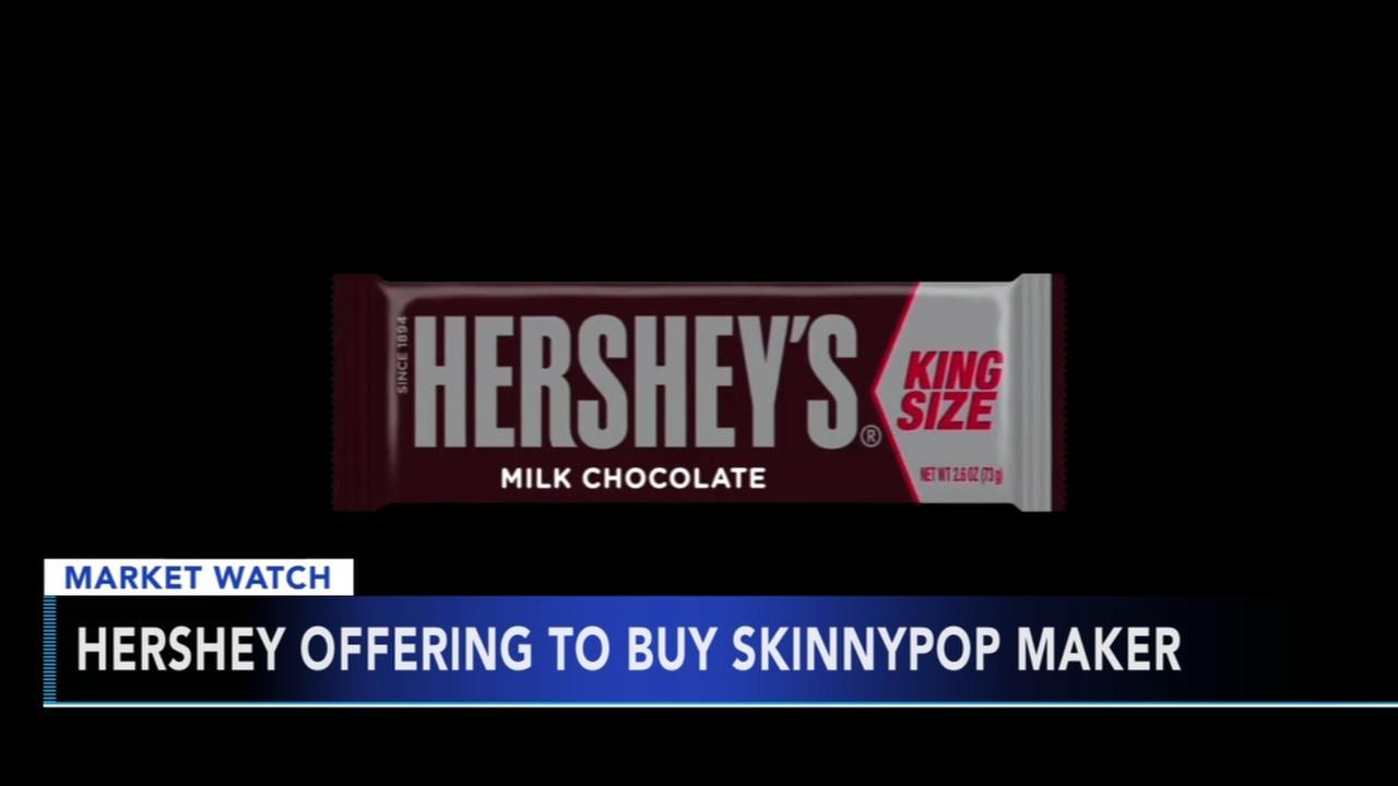 Hershey offering to buy SkinnyPop maker