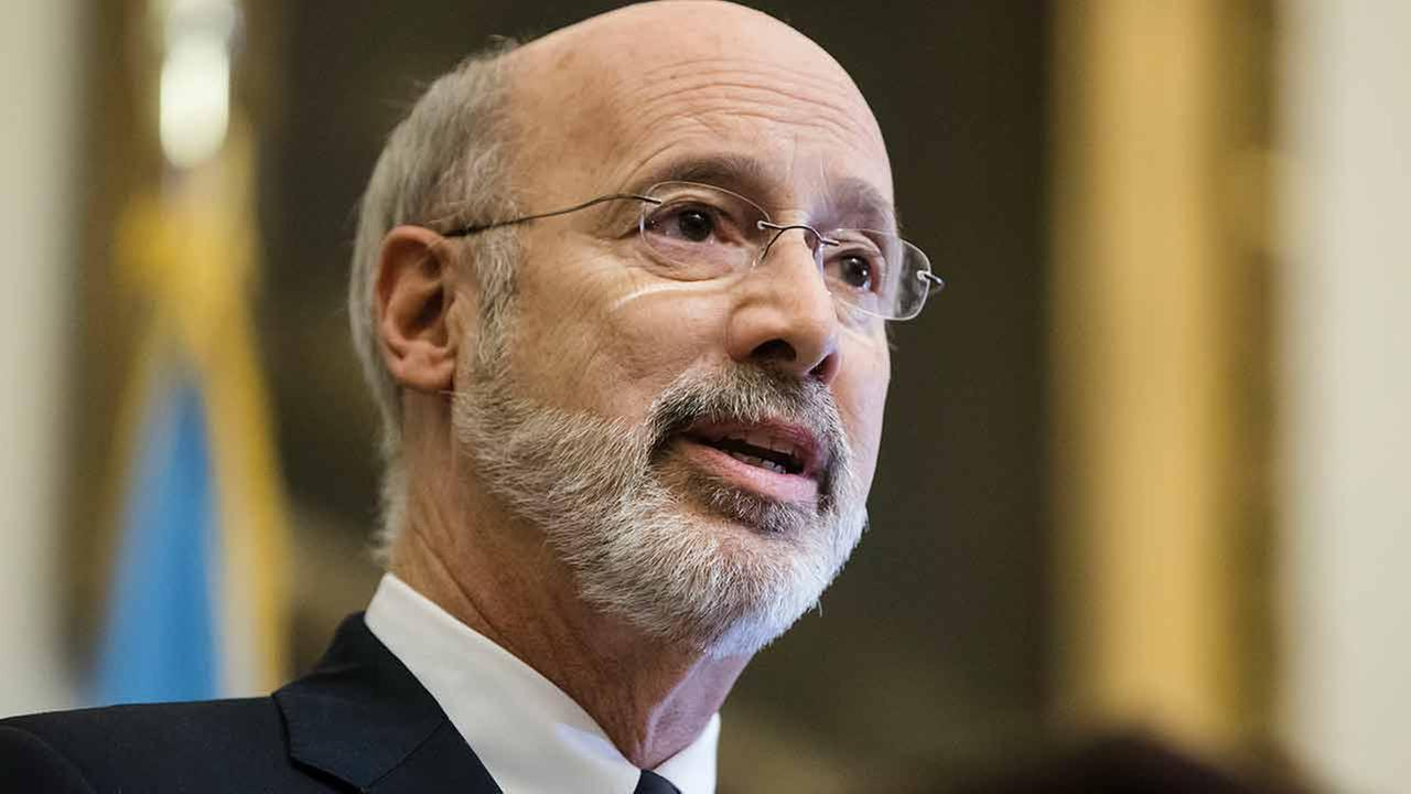 Pennsylvania Gov. Tom Wolf speaks before vetoing a bill passed by the Republican-controlled Legislature to limit abortions to the first 20 weeks of pregnancy, Dec. 18, 2017.