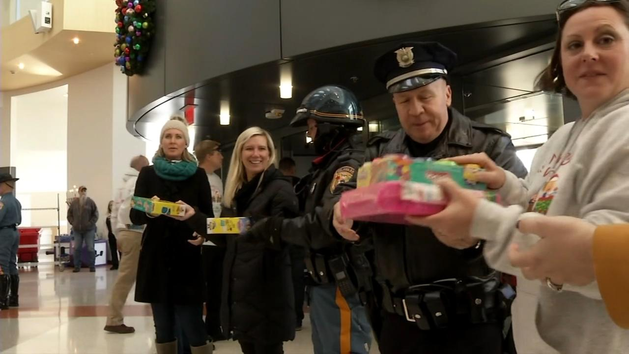Police deliver toys to hospitals