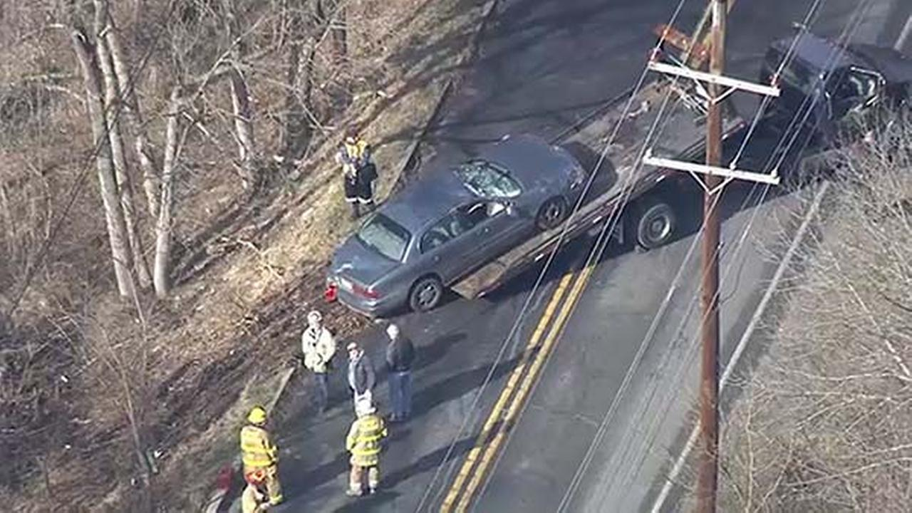 Car flips over after driver loses control in Montco