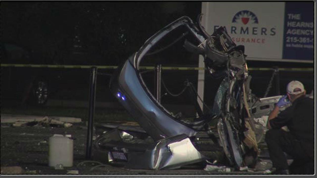 PHOTOS: Car breaks apart in fatal Hatfield, Pa. crash