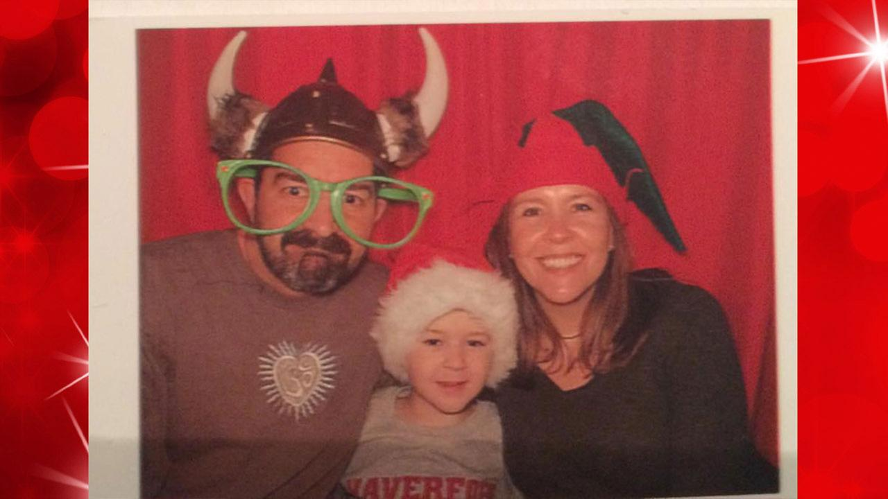 John Messano rings in the holidays with his family.