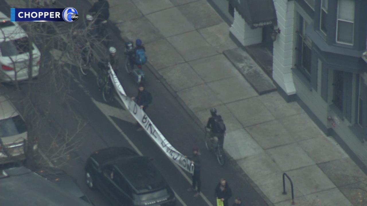 Protesters call for safer bike lanes