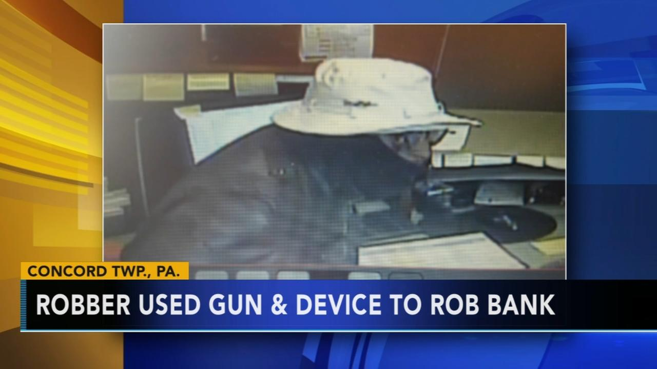 Police: Suspect had gun, suspicious device during bank robbery in Delco
