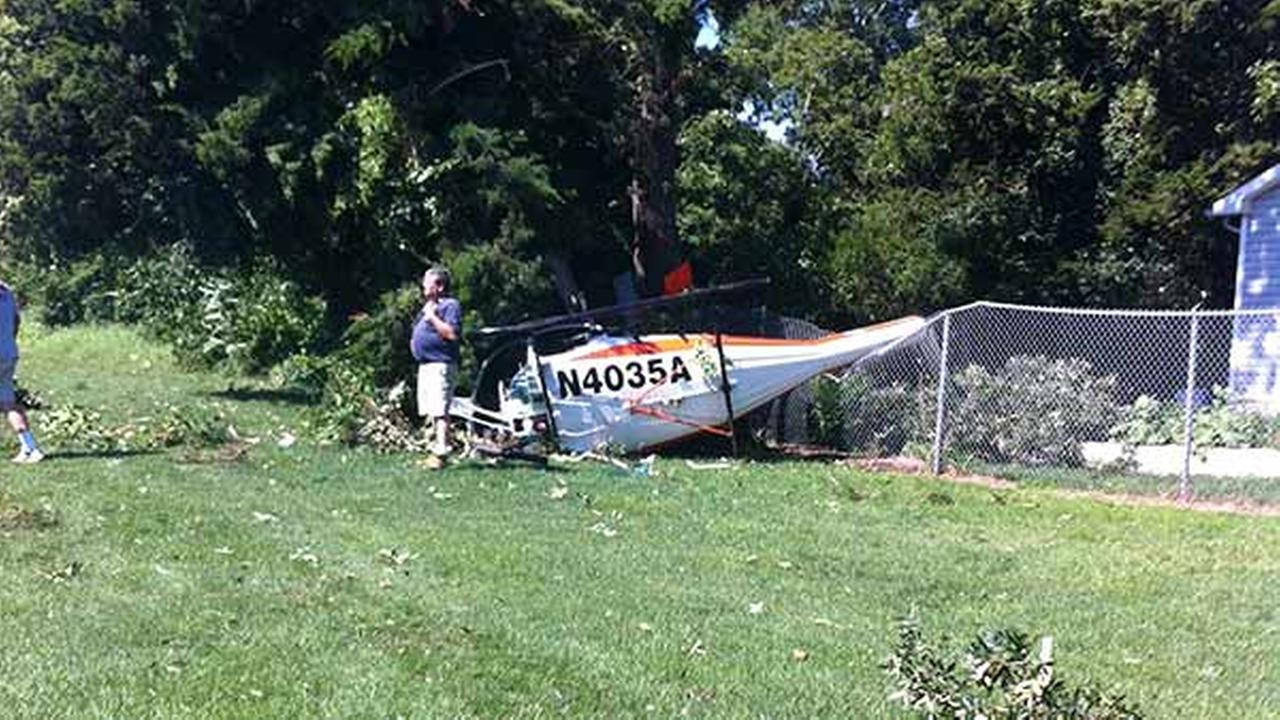 Action News viewer Chad Murnaghan of Cape May Court House sent us this photo from the scene of where a helicopter crashed Monday morning.