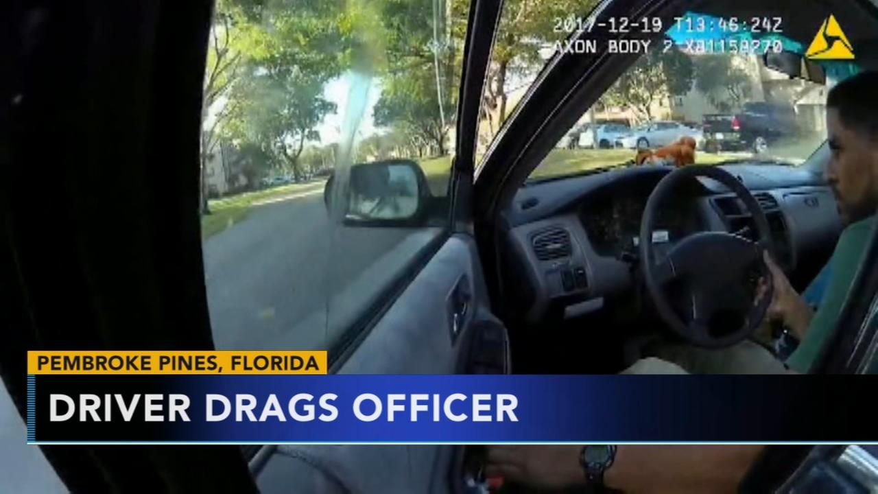 Driver drags officer in Florida