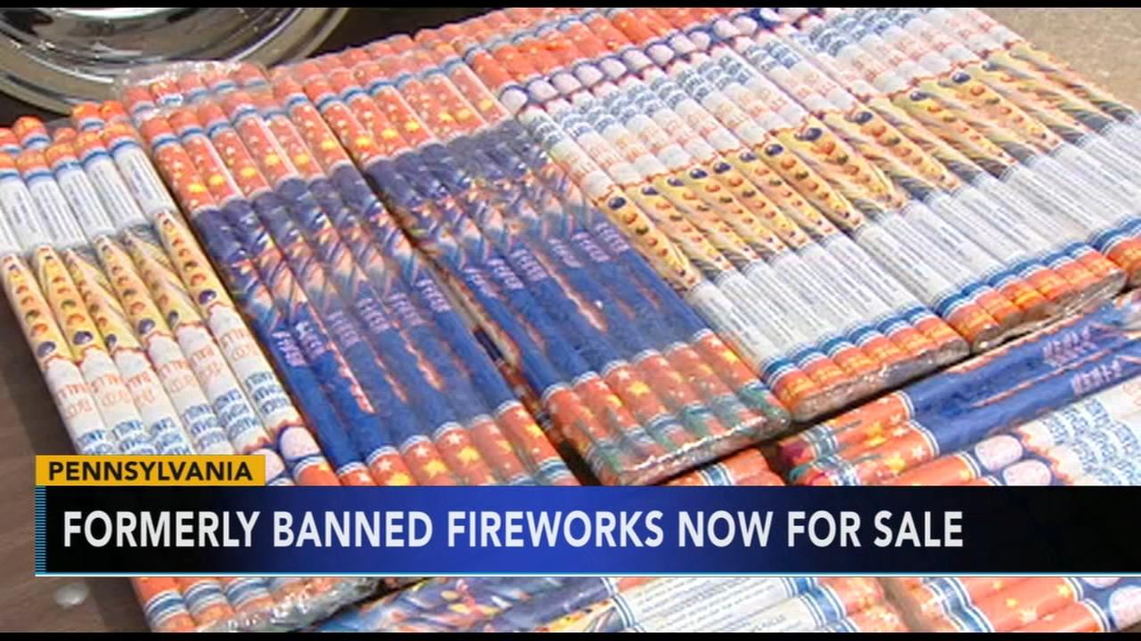 Formerly banned fireworks now for sale